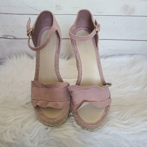 Marc Fisher Blush Espadrille Wedges Size 8 1/2